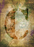 Letter C,  grunge industrial textured background Stock Images