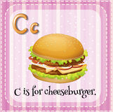 Letter C. Illustration of a letter C is for cheesburger Stock Photos