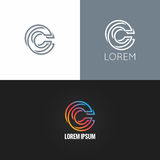 Letter C logo alphabet design icon set background Royalty Free Stock Photos