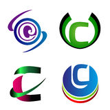 Letter C logo company  letter C icon set Stock Photos