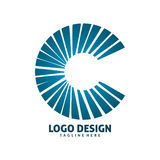 Letter c  logo design. Simple shape of letter c  logo design Royalty Free Stock Photos