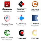 Letter C logo. Set of alphabetical Logo Design with different moods and Concepts - Letter C Royalty Free Stock Photos