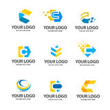 Letter c logo set. C letter Is strong, modern and minimalist suitable and perfect for all business stock illustration