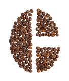 Letter C made of coffee bean Stock Photography