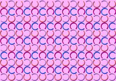 Letter C pattern in different colored shades pattern. Background used as wallpaper vector illustration