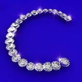 Letter C shape diamond art illustration Royalty Free Stock Photos
