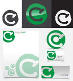 Letter C symbol Royalty Free Stock Image