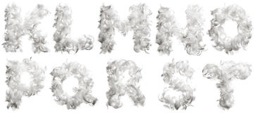 Letter of chicken feathers Stock Photography