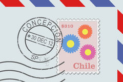Letter from Chile Royalty Free Stock Photos