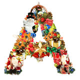 Letter A, for Christmas decoration Royalty Free Stock Images