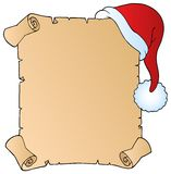 Letter with Christmas hat 1 Royalty Free Stock Image
