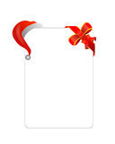 Letter with Christmas hat & gift decoration. For Christmas greeting with a gift Royalty Free Stock Photography