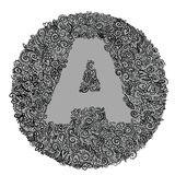 Letter a. Circular pattern with letter a vector illustration
