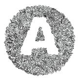 Letter a. Circular pattern with letter a royalty free illustration