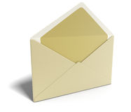 Letter (clipping path included) Royalty Free Stock Photo