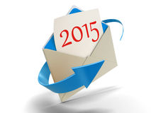 Letter with 2015 (clipping path included) Stock Images