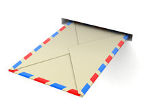 Letter (clipping path included) Stock Photo