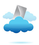 Letter in the cloud illustration Royalty Free Stock Images
