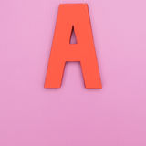 Letter A in color background Royalty Free Stock Images