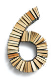 Letter 6 composed from book Stock Images