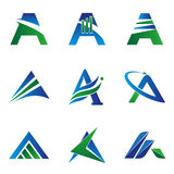 A Letter Concept Logo Stock Images