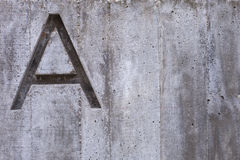 Letter A on Concrete Royalty Free Stock Images