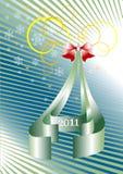Letter of congratulation New Year.Postcard.Wallpap Stock Photos