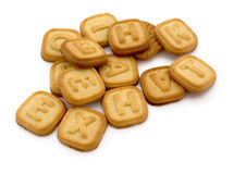 Letter cookies Stock Image