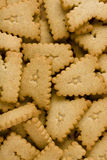 Letter Cookies Background royalty free stock photos