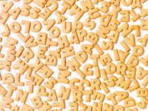 Letter cookies pattern Stock Images