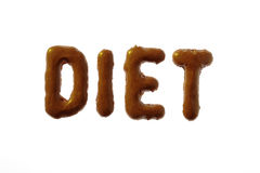 Letter cookies writing DIET Royalty Free Stock Images