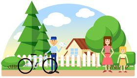 Mail delivery vector color image message illustration stock illustration