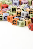 Letter Cubes Royalty Free Stock Photography