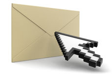 Letter and Cursor (clipping path included) Royalty Free Stock Photography