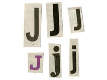 Letter cut from newsprint Stock Image