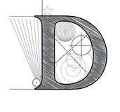 Letter D vector illustration