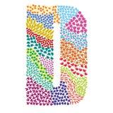 Letter D. Alphabet  graphic illustration design Stock Image