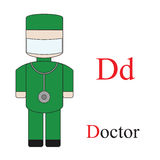 Letter D alphabet of professions. Royalty Free Stock Image