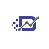 Letter D business logo vector Royalty Free Stock Photography
