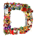 Letter D, for Christmas decoration Royalty Free Stock Images