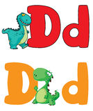 Letter D dinosaur. Illustration of a letter D dinosaur Royalty Free Stock Photography