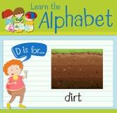 Letter D is for dirt. Illustration Stock Images