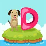 Ο εικονογράφος Letter'D είναι για dog Στοκ εικόνες με δικαίωμα ελεύθερης χρήσης