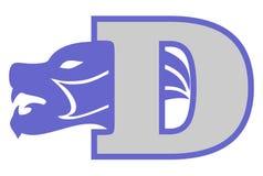 Letter D dragon vector illustration
