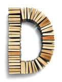 Letter D formed from the page ends of books Royalty Free Stock Image