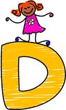 Letter D girl royalty free stock photos