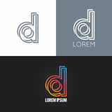 Letter D logo alphabet design icon set background Stock Photos