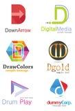 Letter D Logo. Alphabetical Logo Design Concepts. Letter D Stock Photography