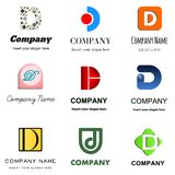 Letter D logo. Set of alphabetical Logo Design with different moods and Concepts - Letter D Stock Photos