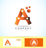 Letter a 3d logo Royalty Free Stock Photo